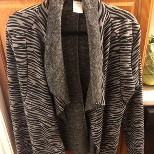 Sweaters - Zebra open front sweater - fleece lined